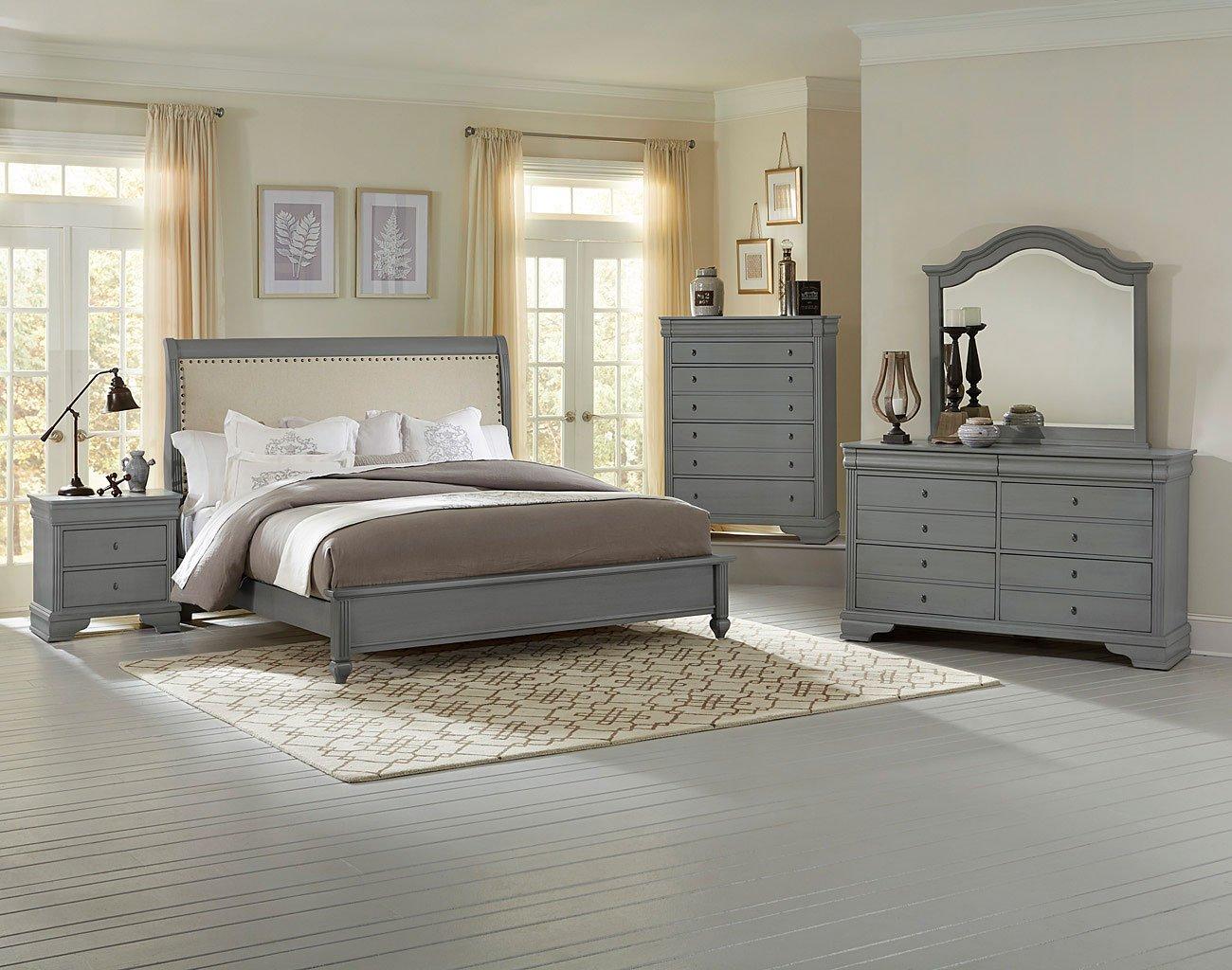 French Market Upholstered Bedroom Set Zinc Vaughan Bett 1 Reviews Furniture Cart