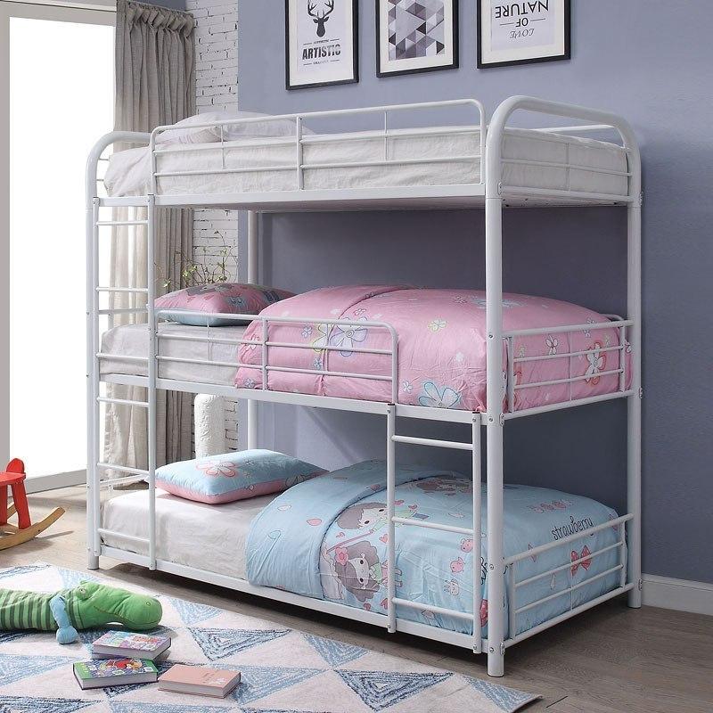 Triple Bunk Bed White Acme Furniture