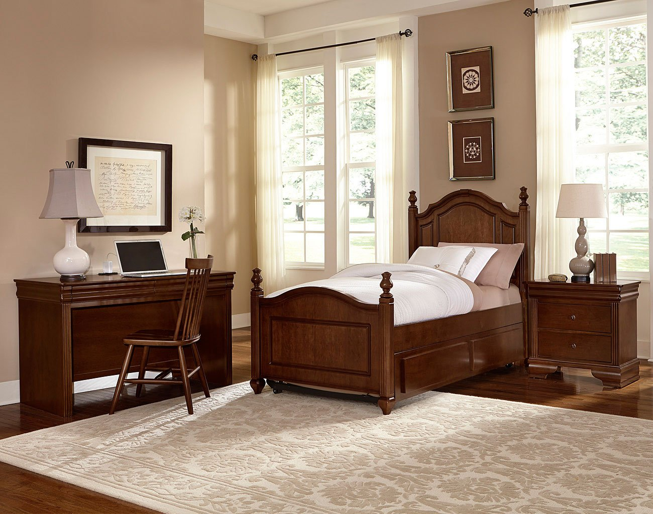 French Market Youth Poster Bedroom Set French Cherry