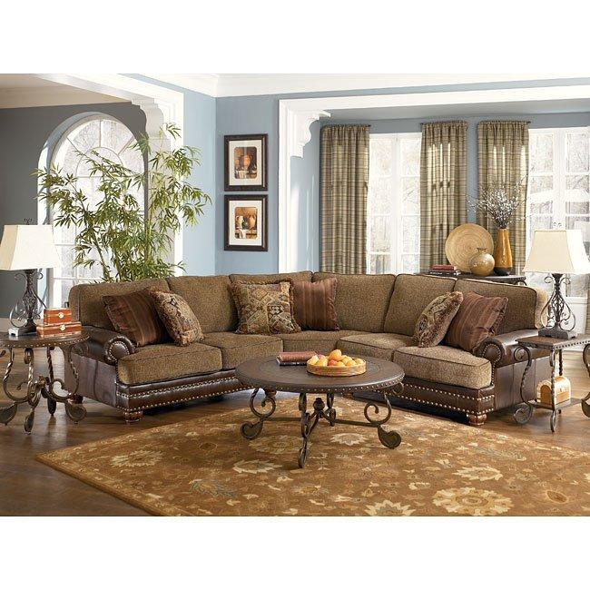 Hartford - Walnut Sectional Living Room Set