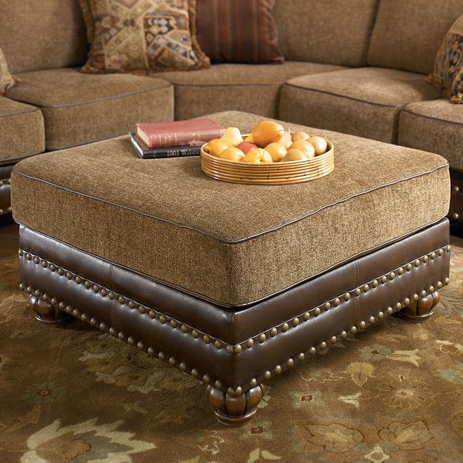 Hartford – Walnut Oversized Accent Ottoman