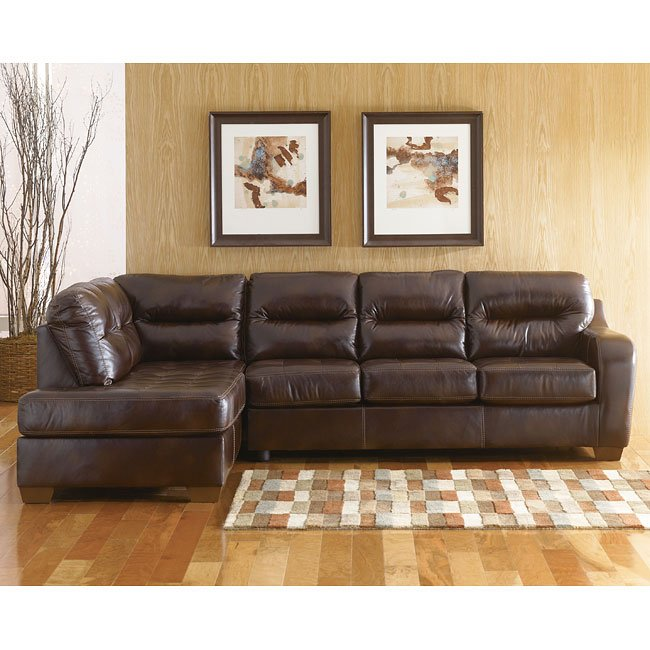 Alex - Chocolate Left Corner Chaise Sectional