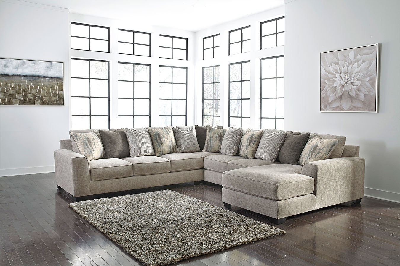 Wondrous Ardsley Pewter Large Modular Sectional Ncnpc Chair Design For Home Ncnpcorg