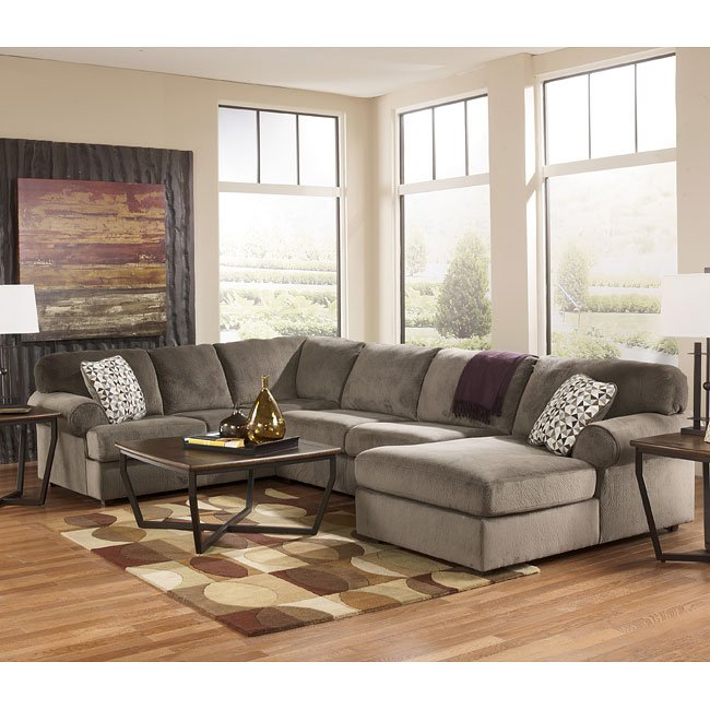 Jessa Place Dune Sectional Living Room Set