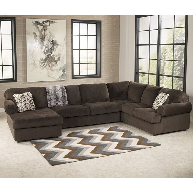 Jessa Place Chocolate Left Chaise Sectional