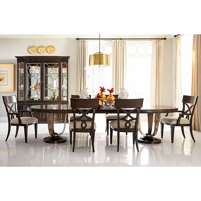 bob mackie home oval dining room set w splat chairs american drew furniture cart. Black Bedroom Furniture Sets. Home Design Ideas