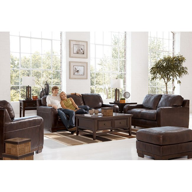 Crestwood - Walnut 4-Piece Living Room Set
