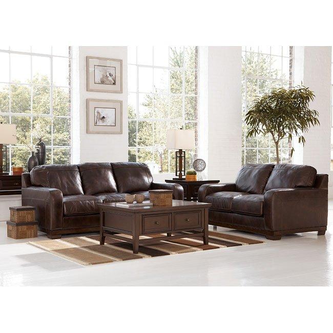 Crestwood - Walnut Living Room Set