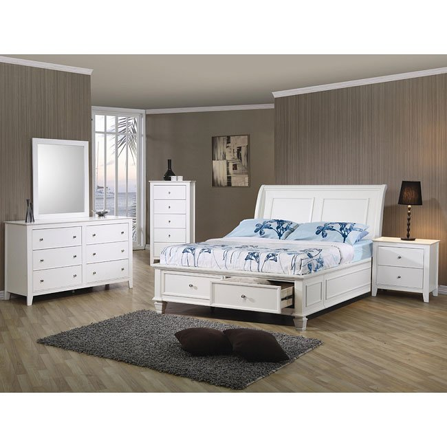 Beach Bedroom Set: Selena Storage Bedroom Set Coaster