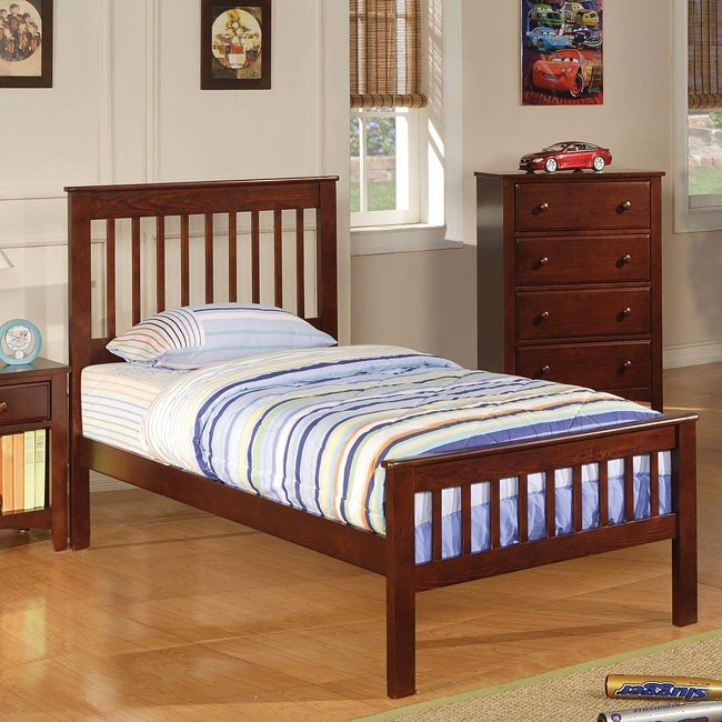 Parker Slat Panel Bed (Twin)