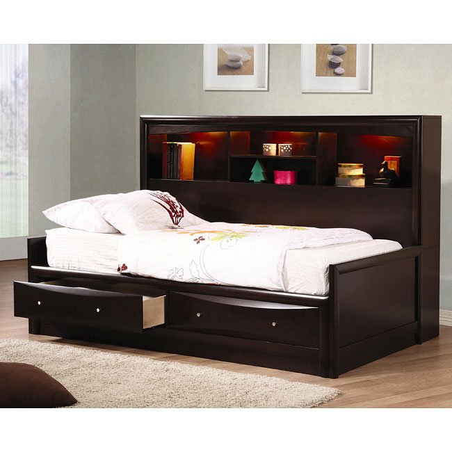 Phoenix Youth Bookcase Bedroom Set
