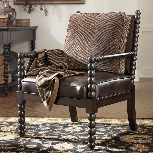 Key Town - Truffle Showood Accent Chair