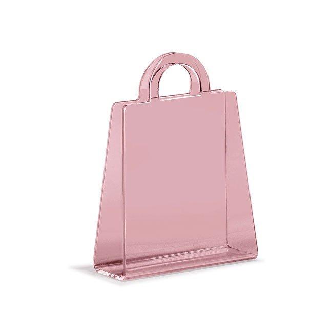 Purse Magazine Rack (Transparent Pink)