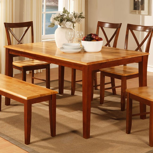 Two-Tone Cherry Dining Table