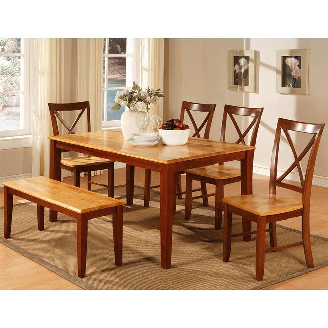 Cherry Dining Room Furniture: Two-Tone Cherry Dining Room Set World Imports