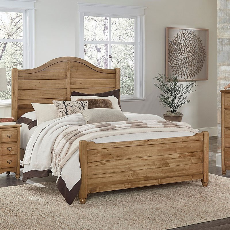 American Maple Shiplap Panel Bed Natural