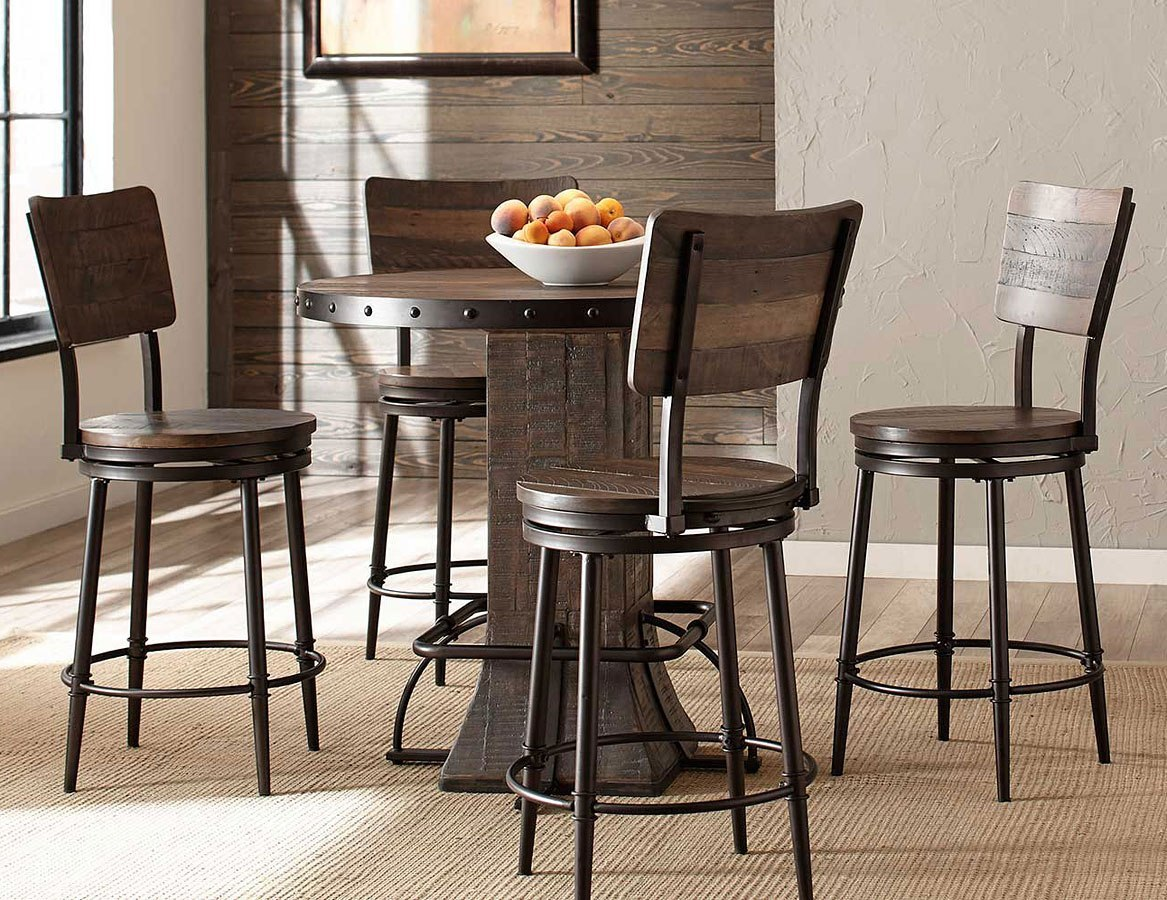 Jennings 40 Inch Round Counter Dining Set W Swivel Stools