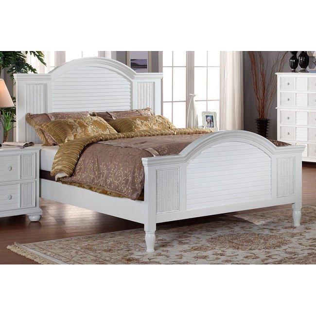 Nautical Breeze Panel Bed (White) Pelican Reef Furniture