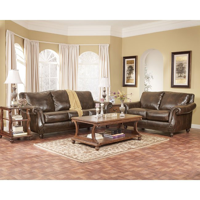 Lindale DuraBlend - Antique Living Room Set Signature Design ...