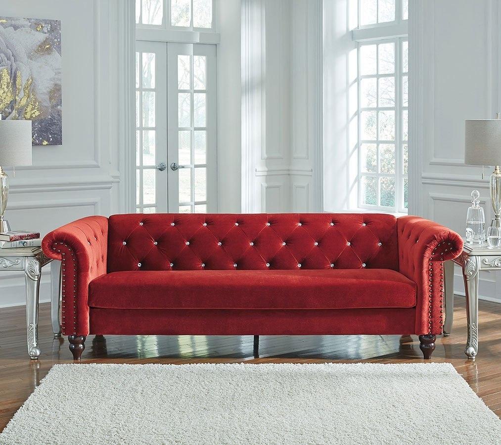 Malchin Red Living Room Set Signature Design
