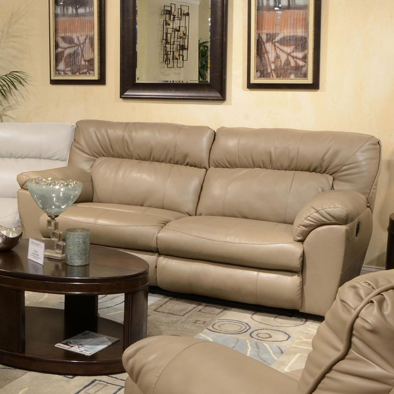 Nolan Extra Wide Reclining Sofa (Putty) By Catnapper