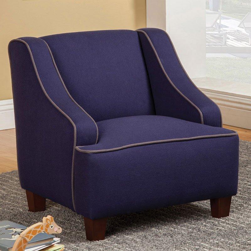 Superb Dark Blue Kids Chair Machost Co Dining Chair Design Ideas Machostcouk