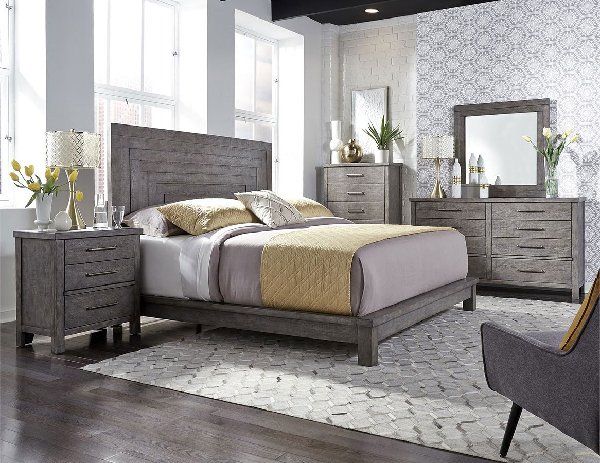 Modern Farmhouse Platform Bedroom Set