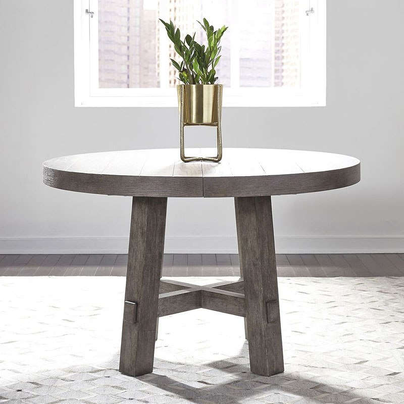 Modern Farmhouse Dining Table: Modern Farmhouse Round Dining Table Liberty Furniture