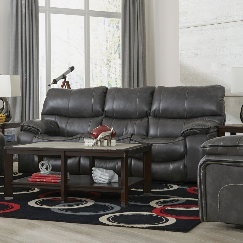 Camden Lay Flat Reclining Sofa (Steel)