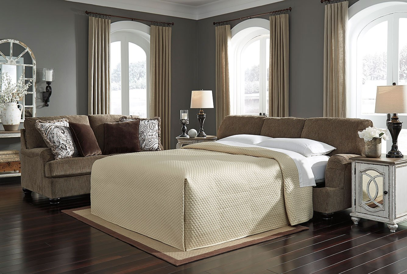 braemar brown living room set benchcraft  furniture cart