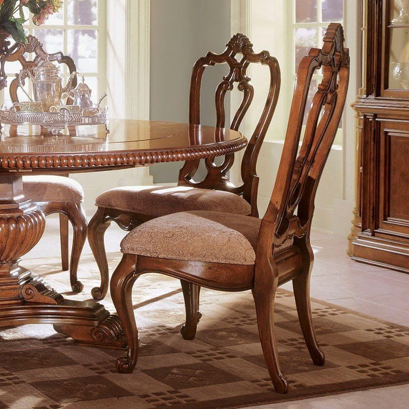 Villa Cortina Carved Back Side Chair Set Of 2 Universal