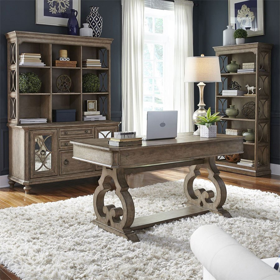 Simply Elegant Home Office Set Liberty Furniture, 1