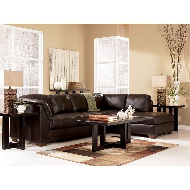 Beau Harrington   Chocolate Sectional Living Room Set