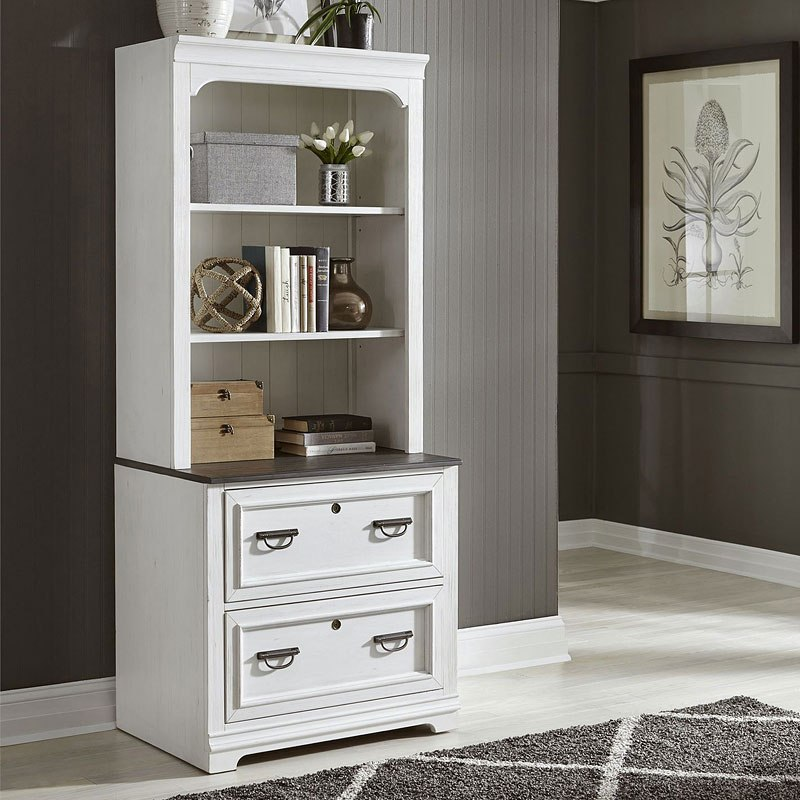 Bunching Lateral File Cabinet W Hutch Liberty Furniture Furniture