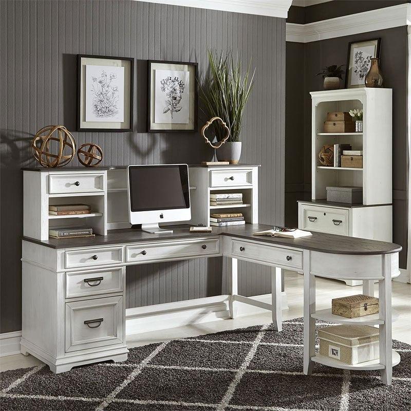 Allyson Park Jr Executive L Shaped Home Office Set