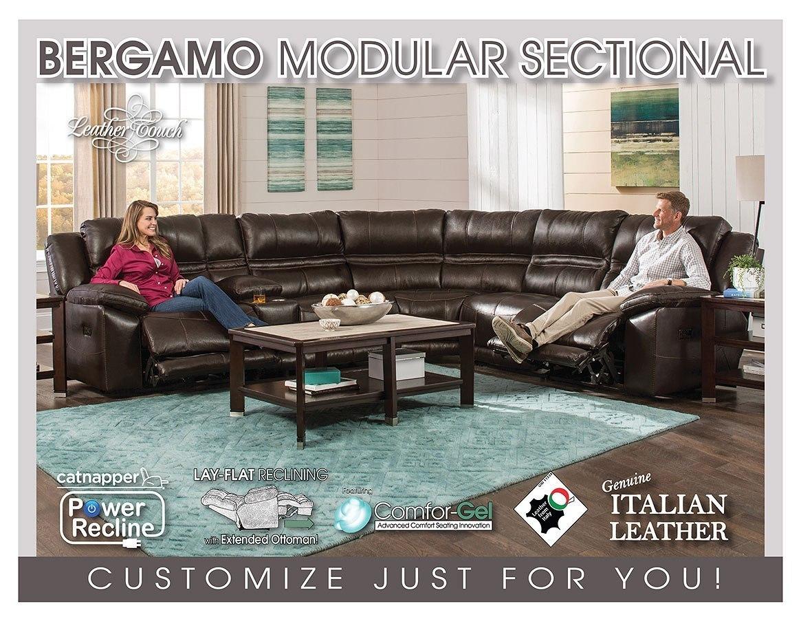 Superieur Bergamo Modular Power Reclining Sectional (Chocolate)