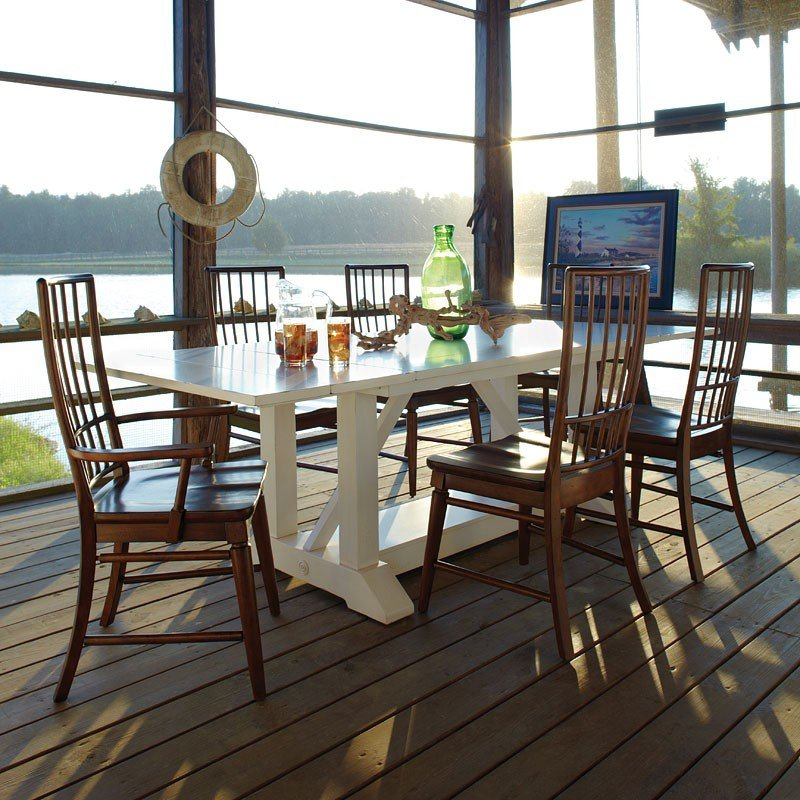 Sea Breeze Southport Dining Room Set W/ Blue Ridge Chairs