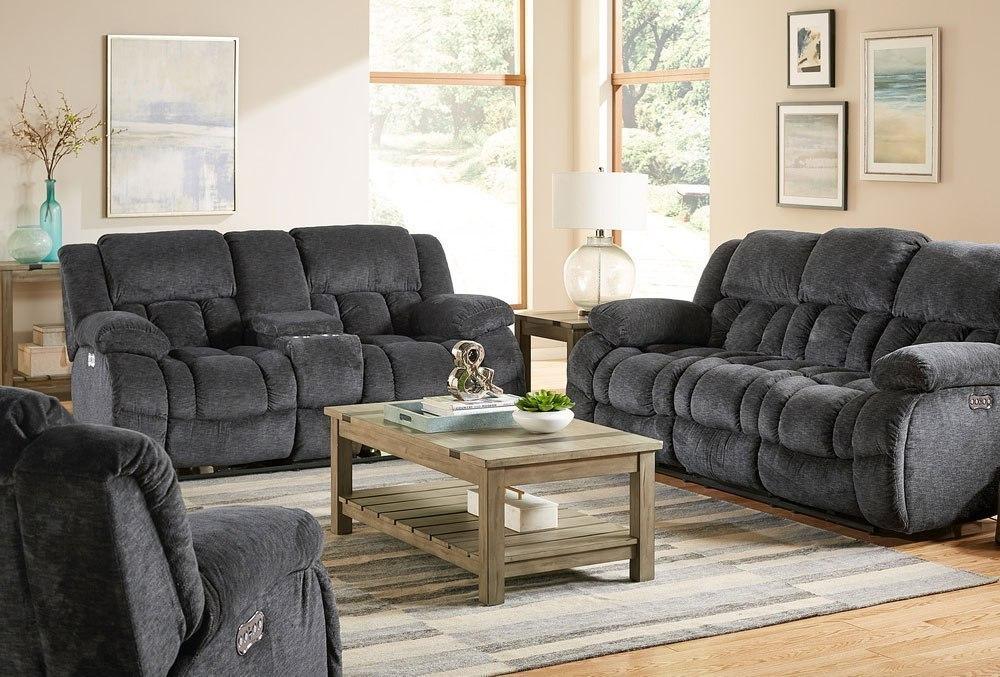 Seymore Reclining Living Room Set (Charcoal)