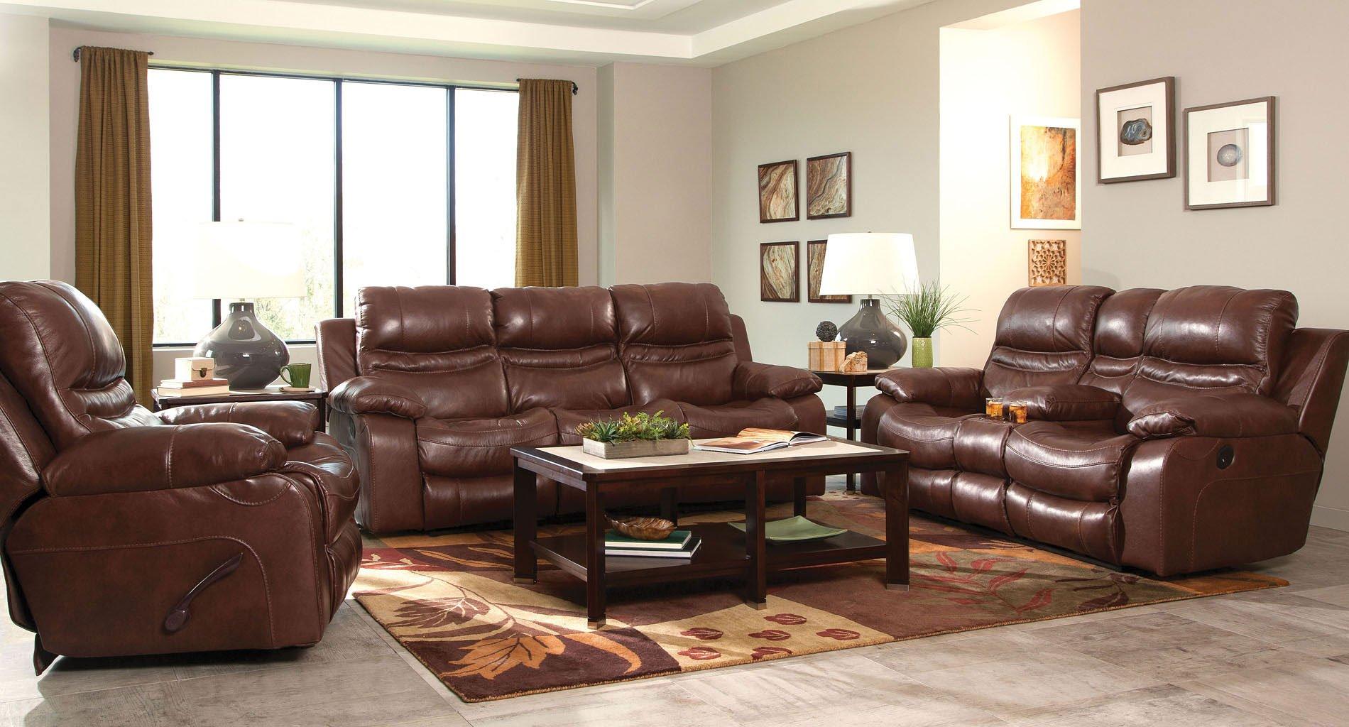 patton lay flat reclining living room set walnut. Black Bedroom Furniture Sets. Home Design Ideas