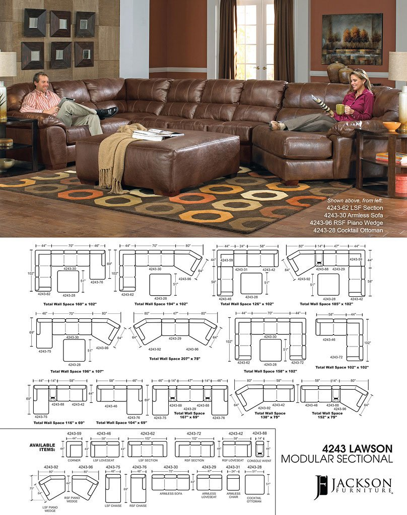 Lawson Modular Sectional Chestnut Jackson Furniture