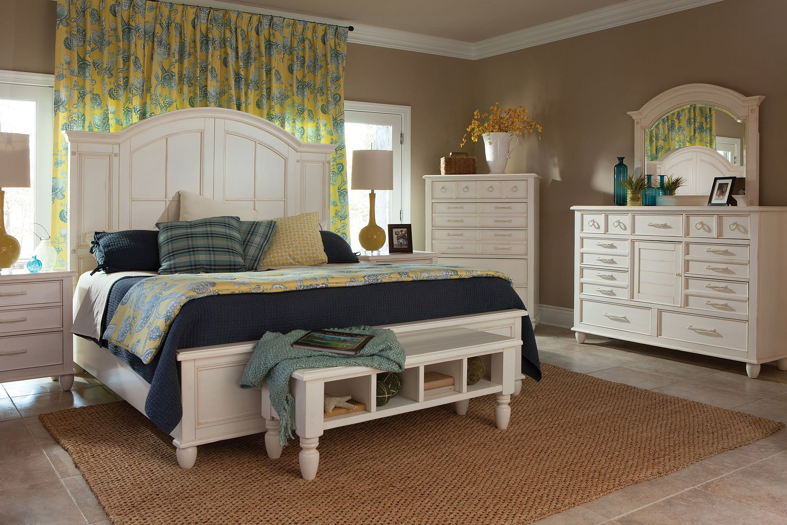 Sea Breeze Island Bliss Storage Bedroom Set Klaussner Furniture Cart