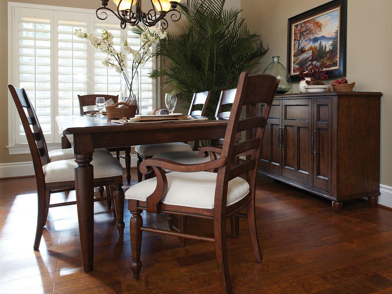 Blue Ridge Rectangular Dining Room Set W/ Ladder Chairs