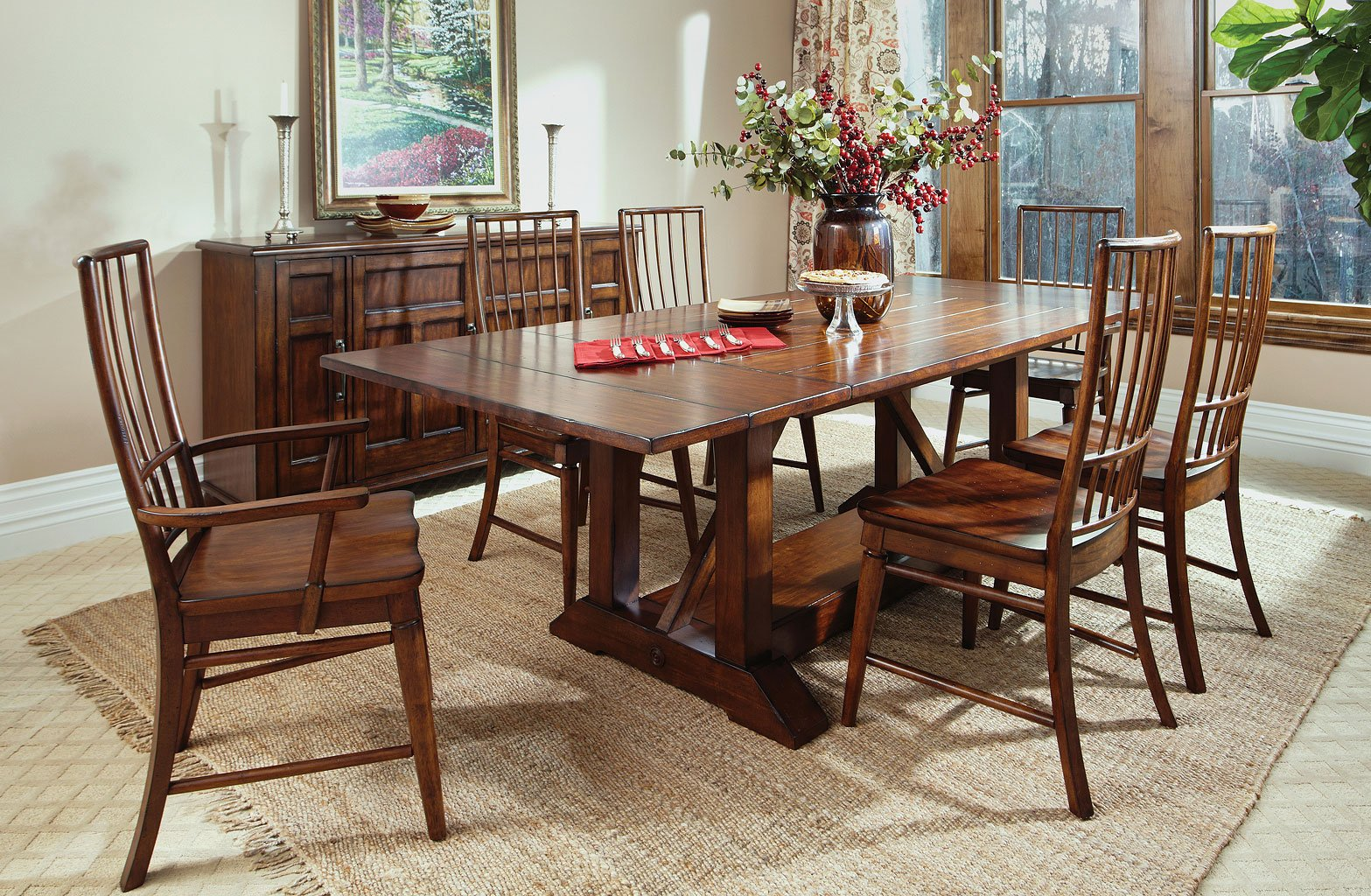 Blue Ridge Southport Dining Room Set W/ Rake Chairs