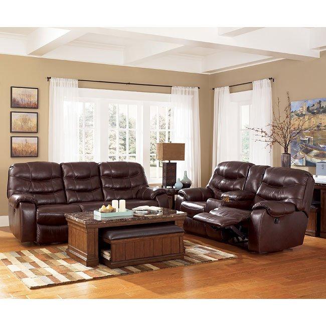 Rourke - Burgundy Reclining Living Room Set