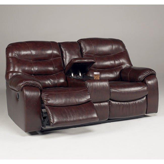 Admirable Rourke Burgundy Double Reclining Loveseat W Console And Power Inzonedesignstudio Interior Chair Design Inzonedesignstudiocom