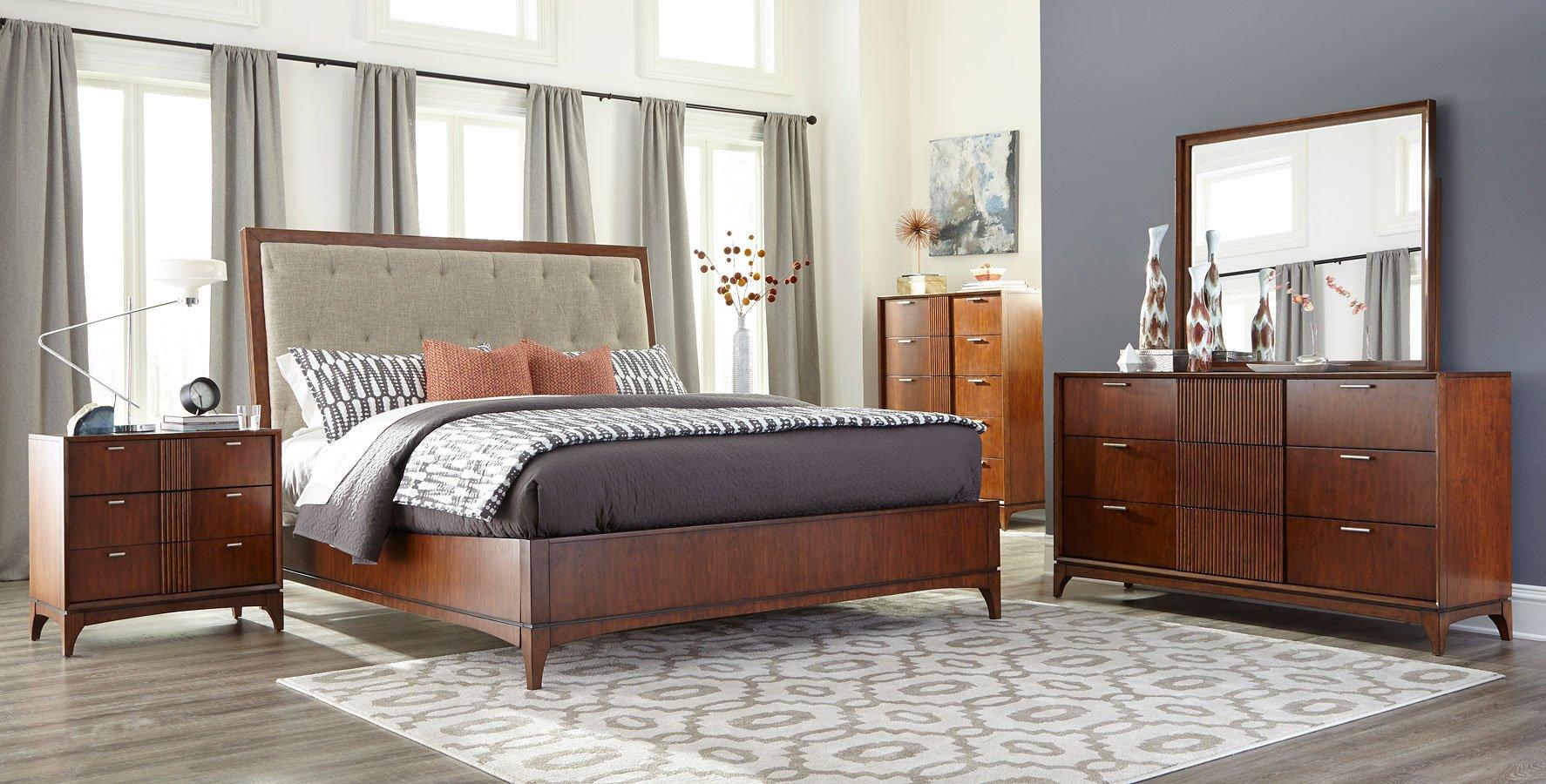 Simply Urban Park Lane Upholstered Bedroom Set Klaussner