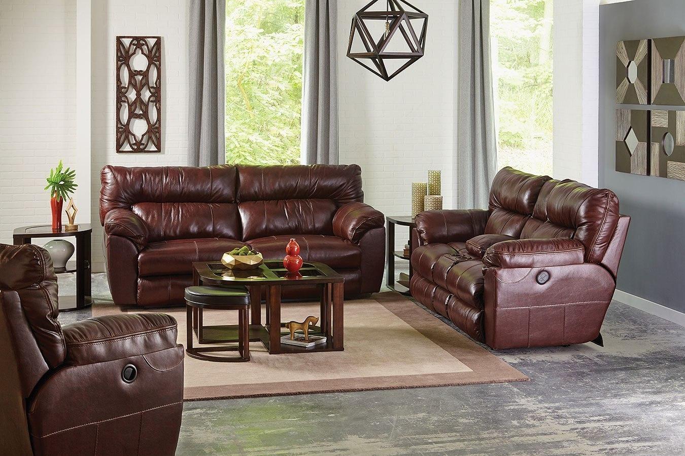 milan lay flat reclining living room set walnut. Black Bedroom Furniture Sets. Home Design Ideas