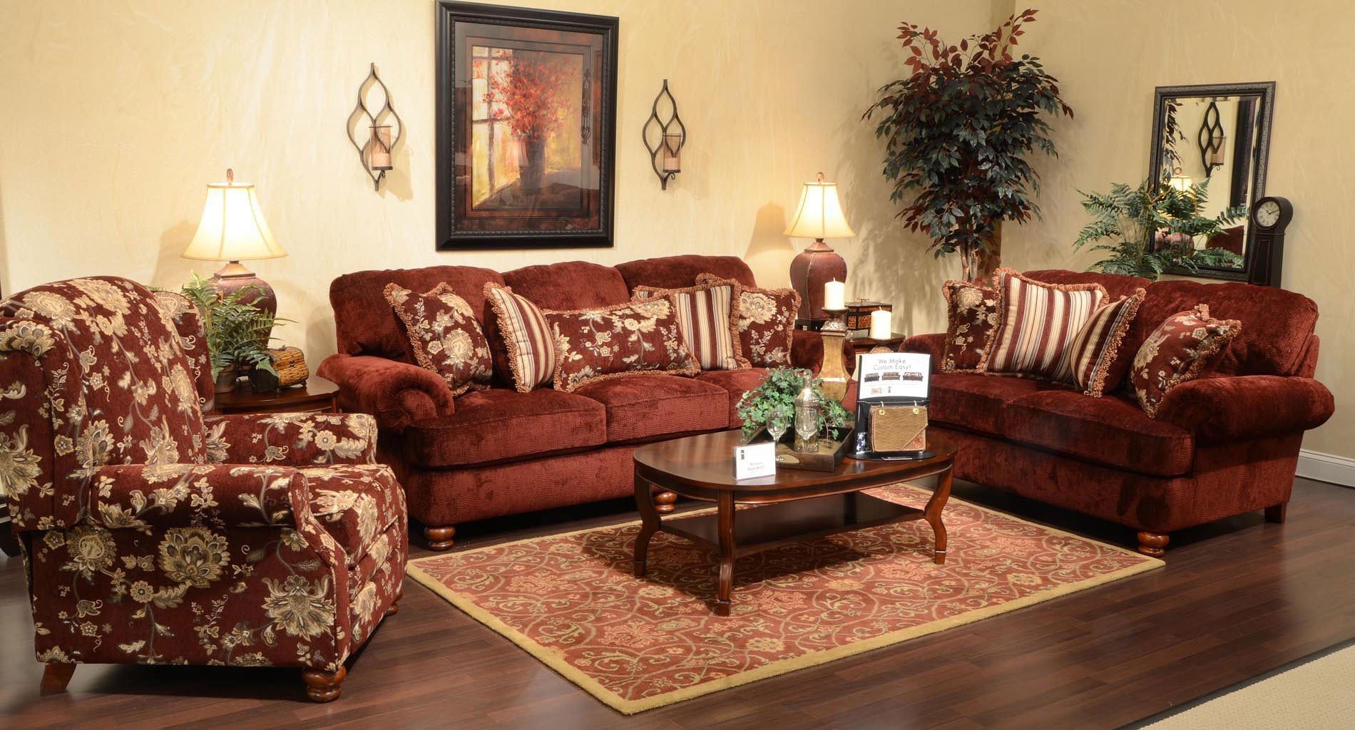 Belmont Living Room Set Claret Jackson Furniture