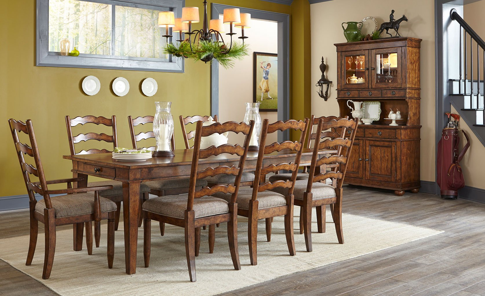 Bon Southern Pines Weymouth Dining Room Set