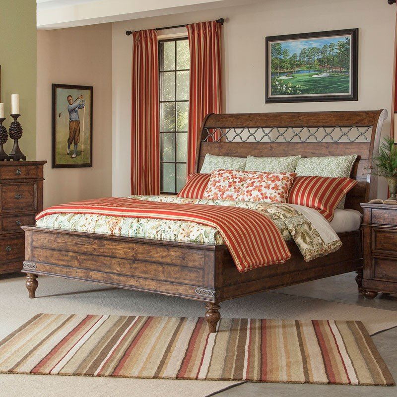 Southern Pines Whispering Pines Sleigh Bed
